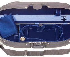 Bobelock Half Moon 1047V 4/4 Violin Case with Blue Velvet Interior